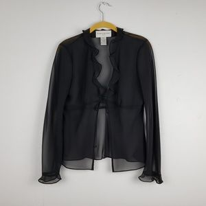 Evan Picone Black Sheer Formal Shrug